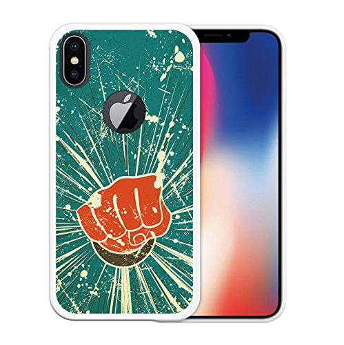 iPhone X Hülle, WoowCase Handyhülle Silikon für [ iPhone X ] Alien Warning Handytasche Handy Cover Case Schutzhülle Flexible TPU - Transparent Housse Gel iPhone X Transparent D0094