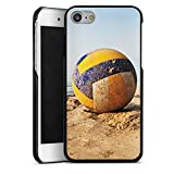 Apple iPhone 7 Lederhülle Leder Case Leder Handyhülle Volleyball Sand Strand