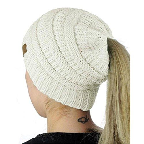 Strickmützen Damen Hüte Winter Mütze Warm Caps Frauen Doppel Faux Pelz Hut Von Xinan (Weiß, ❤️) Frauen Faux-pelz-hut