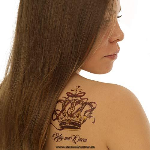1 x 3 Kronen Set als buntes Body Temporary Fake Tattoo - QS-C030 ()