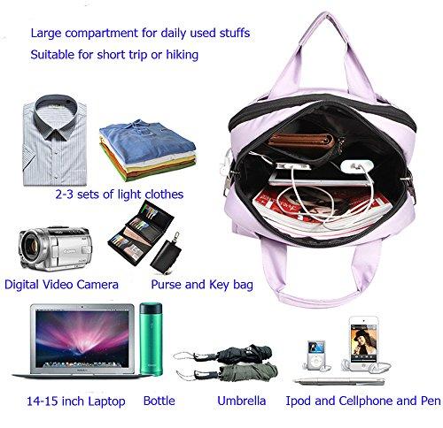 Santimon Unisex Bunte Rucksäcke Schlank Grosse Kapazität Laptop Taschen Langlebig Schule Reise Business Daypacks mit abnehmbare Lange Strap Lila