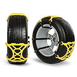Schneeketten, Wrcibo Anti-Rutsch Car Tire Skid Schneeketten 165 mm - 265 mm Tire Ketten Schneereifenketten Snow Tire ketten für Auto, SUV, LKW