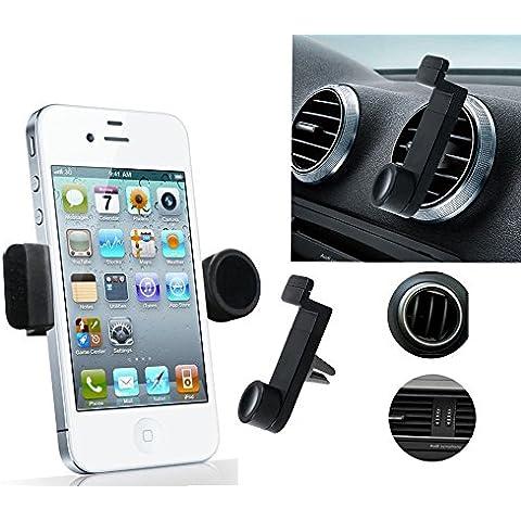 MvPower-Universal Soporte de Telefono Movil para en Las Ranuras de Rejilla de Ventilacion de Coche Sostenedor Ajustable para iPhone 4/4S 5 5S i9500 S5
