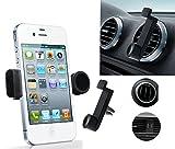 """Car Air Vent Mount Holder 3.5-6.3""""portátil, ajustable para funda para teléfono móvil iPhone 3, 4, 4S, 5, 5s y 5C, Samsung Galaxy, Nokia, HTC Blackberry. fácil de instalar en el coche ventilación mantener el dispositivo en la yema del dedo..."""