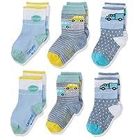 Camano Baby 1106014000 Socks, Blue (stone melange 5300), 3-5 (Pack of 6