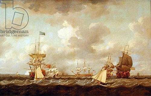 alu-dibond-bild-30-x-20-cm-english-ships-coming-to-anchor-in-a-fresh-breeze-oil-on-canvas-bild-auf-a