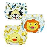 Tai523 3pcs Baby Kids Potty Training Pants Washable Cloth Diaper Nappy Underwear (XL)