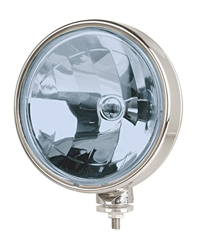 Faro Euralight blu 211mm con luce di posizione 12Volt e 24Volt + griglia parasassi