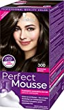 Perfect Mousse Permanente Schaumcoloration 300 Schwarzbraun Stufe 3, 3er Pack (3 x 93 ml)