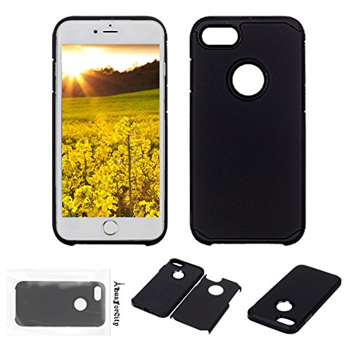Preisvergleich Produktbild iPhone 6S Plus Hart Schwarz Schützen Hülle 6 Plus Hart Bumper Case Handyhülle HuaForCity® Zurück Fall für das iPhone 6S Plus/6 Plus PC Harter TPU Rahmen Zurück Fall Deckung Stoßhaut Sturz Mode Telefon Kasten Back Case for iPhone6S Plus 6 Plus PC Hard TPU Frame Back Case Cover Bumper Skin Drop-proof Fashion Phone Case for iPhone 6S Plus/6 Plus