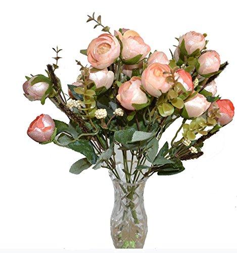 2 x Rosenstrauß künstliche Blumen Kunstblumen Kunststoff Deko