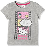 Hello Kitty Girl's Time For A Break T-Shirt, Grey (Sport Grey), 4 Years (Manufacturer Size:X-Small)