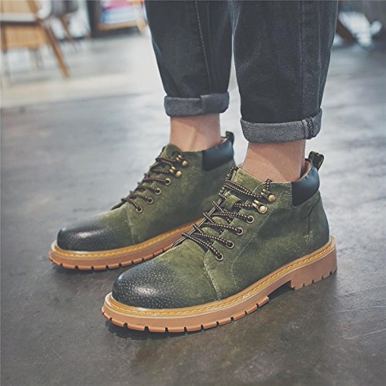 HL-PYL-zapatos de hombre Retro alta botas zapatos botas botas botas Martin.,38,verde  -