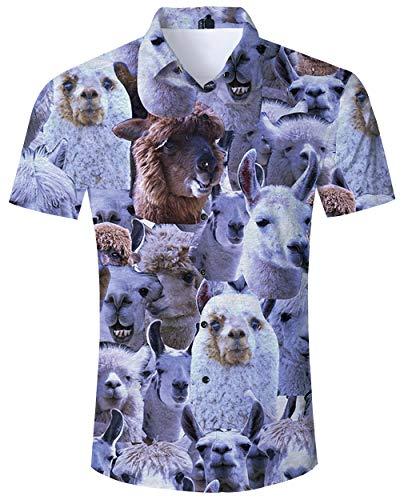 Goodstoworld camicia hawaiana uomo camicie estiva fiori tropicale 3d stampa manica corta mens hawaii casual shirt m