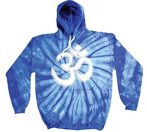 '123T Mugs Tie Dye OM Syllable Design–NEUE PREMIUM Tie Dye Hoodie (verschiedene Farben) S M L XL 2X L Gr. Large, königsblau (Baumwolle Tie Neue Dye)