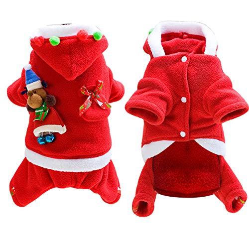 Petyoung Hund Welpen Weihnachten Santa Claus Kostüm Hund, Coat Apparel Kapuzen Süße Weihnachts Outfit