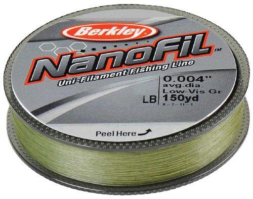 Pure Berkley Nanofil Uni-Filament .008-inch Durchmesser Angeln Line, Unisex, Low Vis Green