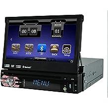 Vendita calda 7 '' 1 DIN lettore DVD di navigazione GPS Car Stereo Auto schermo attivabile al tatto Radio Player Bluetooth Car Audio Supporta il controllo del volante iPod USB SD