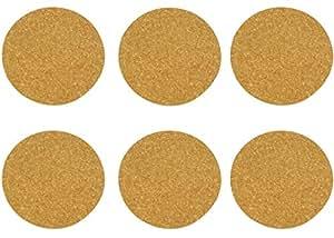 Viva Haushaltswaren Lot de 6pot de/Sous-verres en liège Ø 19cm Épaisseur 1cm, en liège, marron