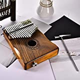 Kalimba 17 Keys Thumb Piano Portable Beginner Piano Entry Finger Piano Acacia Wood Choix du Meilleur Cadeau de Niulyled
