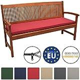 Beautissu Loft BK Bankauflage Auflage für Gartenbank Sitzkissen 150x48x5cm Rot