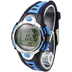 Thalia Sagun Style Trend Kids Watches Cute Flash Lights 50m Waterproof Chronograph Digital Sports Watch - Blue Color