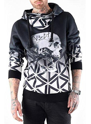 VSCT Clubwear Herren Oberteile / Hoody Twisted Skull Matix grau M