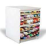 banjado YOURDEA Möbelfolie für IKEA Malm Kommode mit 2 Schubladen/Dekorfolie 2-teilig ca. 40x55cm / Möbelaufkleber Selbstklebend mit Motiv Garnrollen