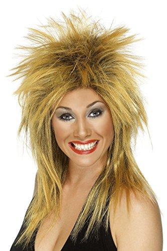 Smiffy's Two Tone Rock Diva (Tina Turner) Wig (Ginger/ Black)