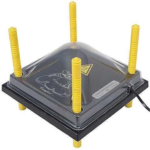 Schutzabdeckung für Wärmeplatte Comfort 25x25cm, Kunststoff (Pet), Abdeckung, Schutzhaube, Deckel, Kükenaufzucht