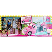 Barbie conjunto Limusina y Fashionistas supercoche y 4 muñecas (Reacondicionado Certificado)