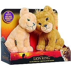 Le Roi Lion - Le Film- 2 Peluches 17 cm Simba & Nala Câlins, LNN02