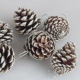 Elenxs 6Pcs Weihnachten Tannenzapfen Flitter Weihnachtsbaum-Dekorationen Ornament Home Decor