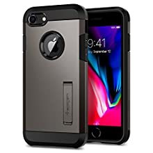iPhone 8 Case, iPhone 7 Case, Spigen [Tough Armor 2] iPhone 7 Case Cover with Kickstand and Extreme Heavy Duty Protection and Air Cushion Technology for iPhone 7 / iPhone 8 - Gunmetal