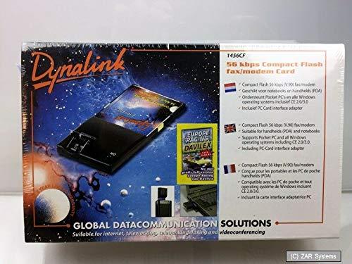 Dynalink 1456CF CF COMPACT FLASH 56K Modem Karte, Card + PCMCIA Adapter, NEU - Pcmcia-modem-karte