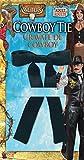 Adulte sauvage de cowboy Western Nœud papillon noir Colonel Sanders années 50Déguisement accessoire