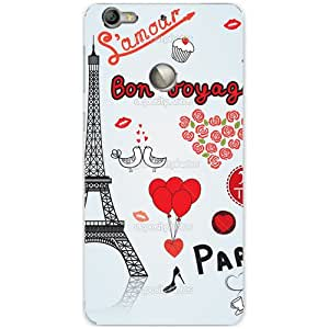 BetaDesign Paris Back Cover, Designer Cover for Letv Le 1s (Multicolor)