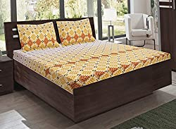 Bombay Dyeing double bedsheet with 2 pillow covers-Eternia-Brown