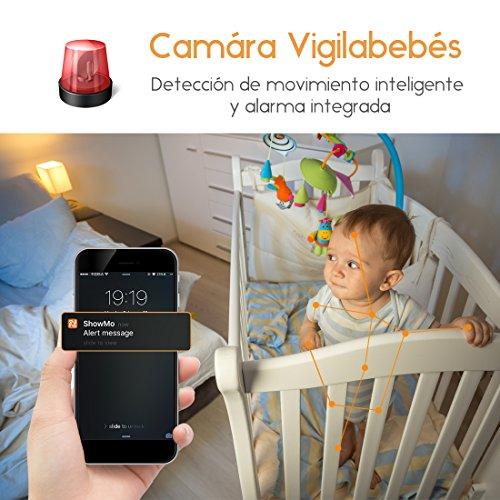 HD 1080P FREDI Cámara Panorámica /WiFi Cámara IP/Cámara Vigilancia/Cámara Seguridad y Inalámbrica /Vigilabebes Baby Monitor IR Visión Nocturna/2-way Talking Detección de Movimiento Vista Remota(Negra)