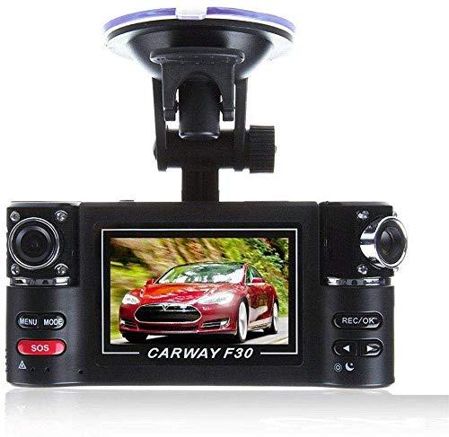 Mnjin Per Viaggi e Affari registratore di Guida con 1080P HD 120 & DEG;Traduttore a Doppia Lente per la Visione Notturna a infrarossi con Trasmissione in Lingua grandangolare