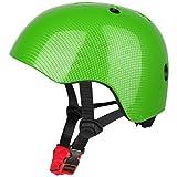 Six Foxes Fahrradhelm Kinder - Verstellbare Leichtgewicht Sicherer Kinderhelm, Fahrrad Skating Roller Helm für 3 bis 8 Jahre Mädchen Jungen, 48-54 cm (Grün)