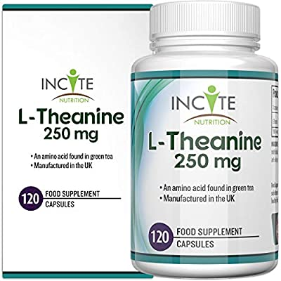 L-Theanine Supplement 250mg 120 Capsules (4 Months Supply) - Buy 2 GET Free UK DELIVERY - High Dosage - UK Manufactured