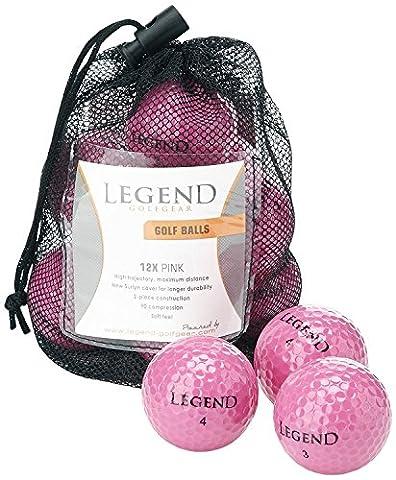 Legend Golfgear, 12er Golfball-Set, Pink