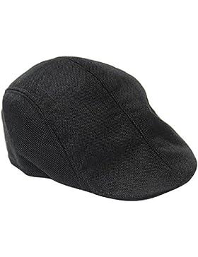 TININNA Uomini e Donne Autunno Moda Confortevole traspirante coppola Cappello di lino Beret Hat Berretto