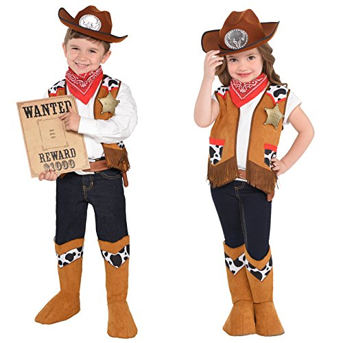 Western Kit Kids Fancy Dress Wild West Rodeo Cowboy Boys Girls Childs (Girl Kostüme Rodeo)