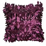 Sunnywill 43cm*43cm Blätter Square Kissenbezüge verlässt Feder Kissenhülle ( Kissen ist nicht im Preis inbegriffen ) (Lila)