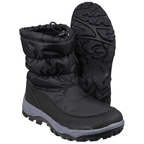 Cotswold Ladies Polar Toggle Fastening Fleece Lined Snow Boot Black Black