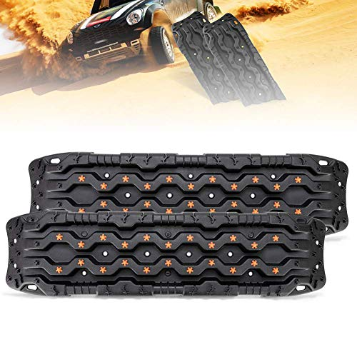 Universal Schwarz Traktion Track-2 PCS Traktion Matte Recovery Für Sand Schlamm Schnee Spur Reifen Leiter 4WD-Traction Boards