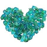 mookaitedecor Titanium Überzogen Raw Natur Kristallen Quarz Dekorative Steine,Rocks für Home Decor, Draht Verpackung, Polieren, Basteln, Reiki Ca. 230 Grams