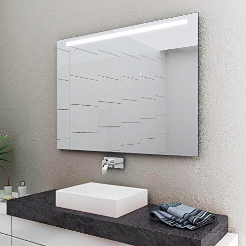 LED Badspiegel Badezimmerspiegel mit Beleuchtung ENJOY 60 cm Breit x 80 cm Hoch Licht OBEN